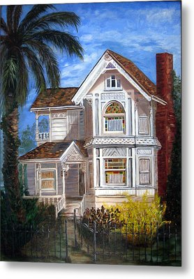 Victorian House Metal Print by LaVonne Hand