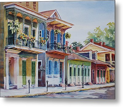 Vieux Carre Metal Print by Sue Zimmermann