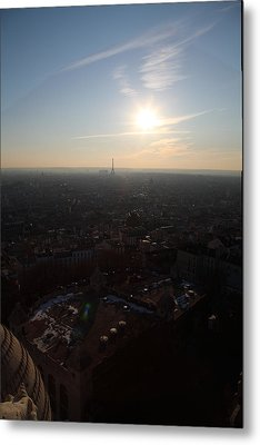 View From Basilica Of The Sacred Heart Of Paris - Sacre Coeur - Paris France - 011311 Metal Print by DC Photographer