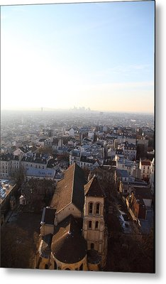 View From Basilica Of The Sacred Heart Of Paris - Sacre Coeur - Paris France - 011318 Metal Print by DC Photographer