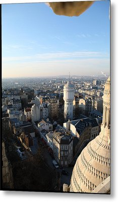 View From Basilica Of The Sacred Heart Of Paris - Sacre Coeur - Paris France - 011322 Metal Print by DC Photographer