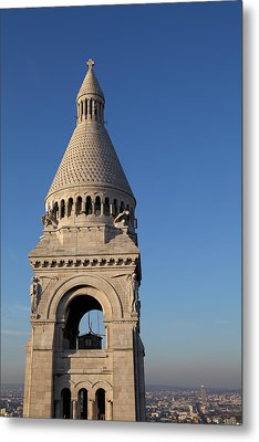 View From Basilica Of The Sacred Heart Of Paris - Sacre Coeur - Paris France - 011324 Metal Print by DC Photographer