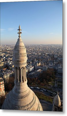 View From Basilica Of The Sacred Heart Of Paris - Sacre Coeur - Paris France - 011334 Metal Print by DC Photographer