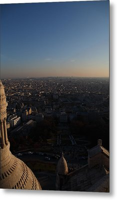 View From Basilica Of The Sacred Heart Of Paris - Sacre Coeur - Paris France - 011335 Metal Print by DC Photographer