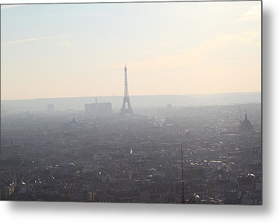 View From Basilica Of The Sacred Heart Of Paris - Sacre Coeur - Paris France - 01137 Metal Print by DC Photographer