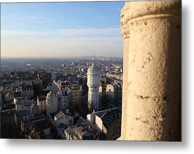 View From Basilica Of The Sacred Heart Of Paris - Sacre Coeur - Paris France - 01138 Metal Print by DC Photographer