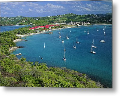 View From Fort Rodney-st Lucia Metal Print by Chester Williams