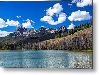 View From Little Redfish Lake Metal Print by Robert Bales