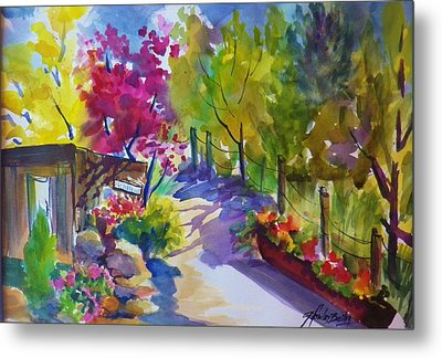 View From My Studio Door Metal Print by Therese Fowler-Bailey