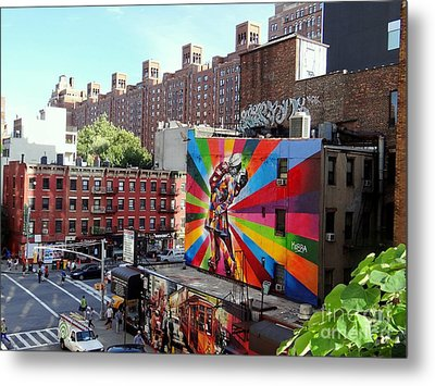 View From The Highline Metal Print by Ed Weidman