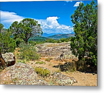 View From Warner Point Trail In Black Canyon Of The Gunnison National Park-colorado  Metal Print by Ruth Hager