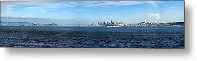 View Of Alcatraz Island And San Metal Print by Panoramic Images