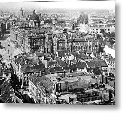 Metal Print featuring the photograph View Of Berlin Germany 1903 Vintage Photograph by A Gurmankin