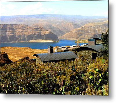 View Of Columbia River Metal Print by Kay Gilley