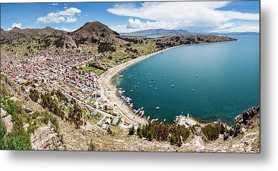 View Of Copacabana And Lake Titicaca Metal Print by Panoramic Images