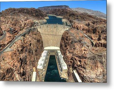 View Of Hoover Dam Metal Print by Eddie Yerkish