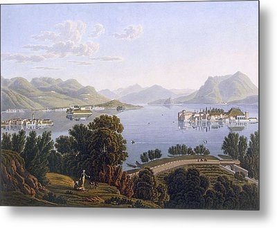 View Of Lake Maggiore And The Borromean Metal Print by Swiss School