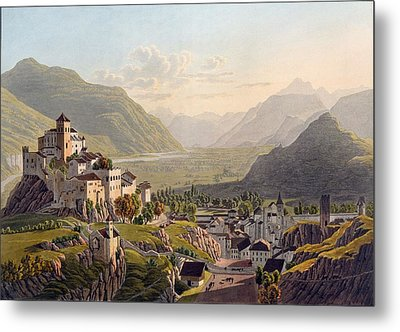 View Of Sion, Illustration From Voyage Metal Print by Gabriel L. & Lory, Mathias G. Lory