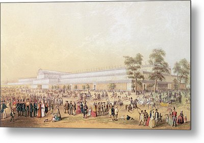 View Of The Crystal Palace Metal Print by George Baxter