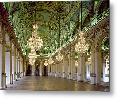 View Of The Grande Salle Des Fetes Metal Print by French School