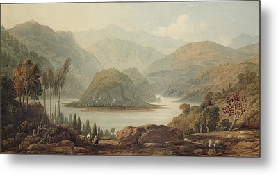 View Of The Mondego River Metal Print by John Varley