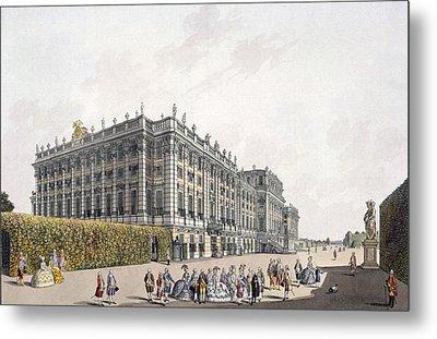View Of The Palace Of Schoenbrunn Metal Print by Laurenz Janscha