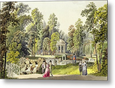 View Of The Temple Of Diana At Erlaw Metal Print by Laurenz Janscha