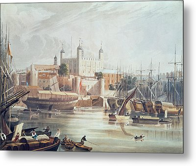 View Of The Tower Of London Metal Print by John Gendall