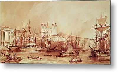 View Of The Tower Of London Metal Print by William Parrott