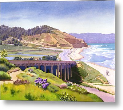 View Of Torrey Pines Metal Print by Mary Helmreich