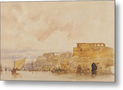 View Of Valetta Metal Print by James Holland