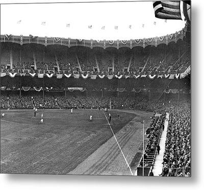 View Of Yankee Stadium Metal Print by Underwood Archives