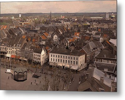 View To The East In Maastricht Metal Print by Nop Briex