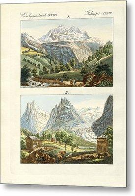 Views Of Switzerland Metal Print by Splendid Art Prints