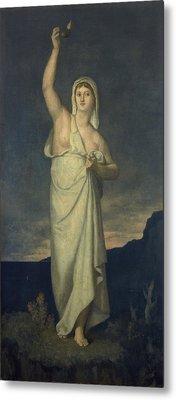Vigilance, 1867 Oil On Canvas Metal Print by Pierre Puvis de Chavannes