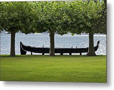 Viking Boat Metal Print by Cheri Randolph