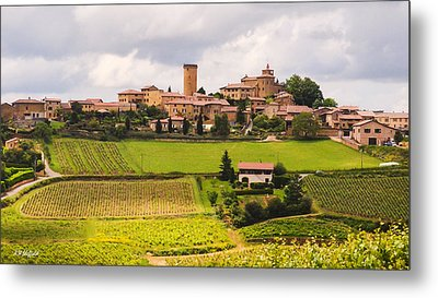 Village In French Countryside Metal Print by Allen Sheffield