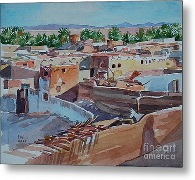 Village Metal Print by Mohamed Fadul