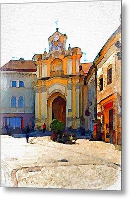 Vilnius Old Town 33 Metal Print by Yury Malkov