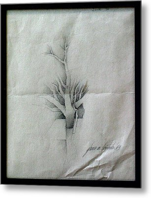 Vine And Branches A 1969 Metal Print by Glenn Bautista