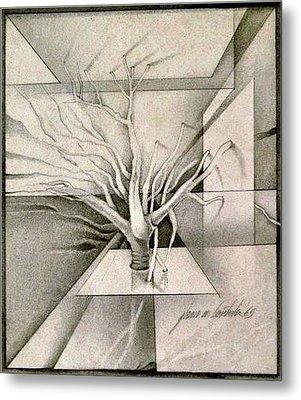 Vine And Branches B 1969 Metal Print by Glenn Bautista