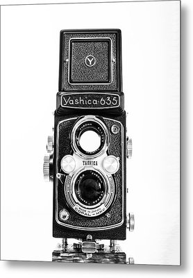 Vintage 1950s Yashica 635 Camera Metal Print by Jon Woodhams