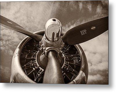 Vintage B-17 Metal Print by Adam Romanowicz