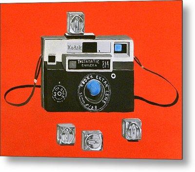 Vintage Camera With Flash Cube Metal Print by Karyn Robinson