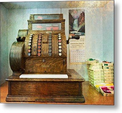 Vintage Cash Register Metal Print by Eti Reid