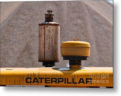 Vintage Caterpillar Machine Metal Print by Les Palenik