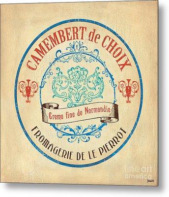 Vintage Cheese Label 4 Metal Print by Debbie DeWitt
