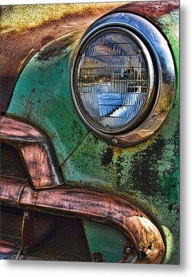 Vintage Chevy 3 Metal Print by Nancy  de Flon