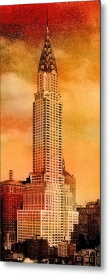 Vintage Chrysler Building Metal Print by Andrew Fare