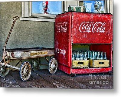 Vintage Coca-cola And Rocket Wagon Metal Print by Paul Ward
